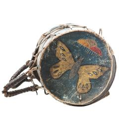 19th Century Native American Butterfly Drum