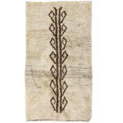 Vintage Tulu Rug with Tree of Life Design