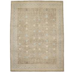 Large Transitional Area Rug with Classic Khotan Design in Warm, Neutral Colors