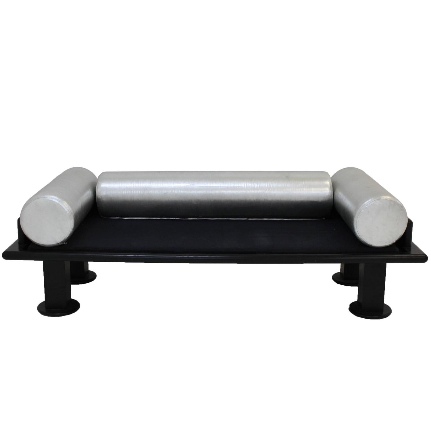 Ettore Sottsass Black and Silver Sofa at 1stdibs for Ettore Sottsass Sofa  55jwn