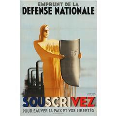 """Poster by Paul Emile Colin """"Emprunt de la défense nationale"""""""