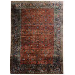 Antique Rugs, Persian Rugs, Kashan Rug, Mohtasham Carpet