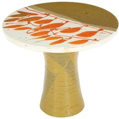 Graphic 1970s Art Pottery Cocktail Table