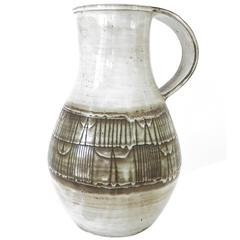 Monumental French Ceramic Pitcher by Jaques Pouchain Atelier Dieulefit