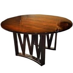 Round Expanding Mid-Century Dining Table by Paul Frankl