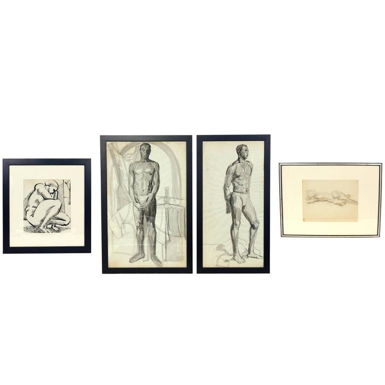 Selection of Black and White Nude Artwork For Sale