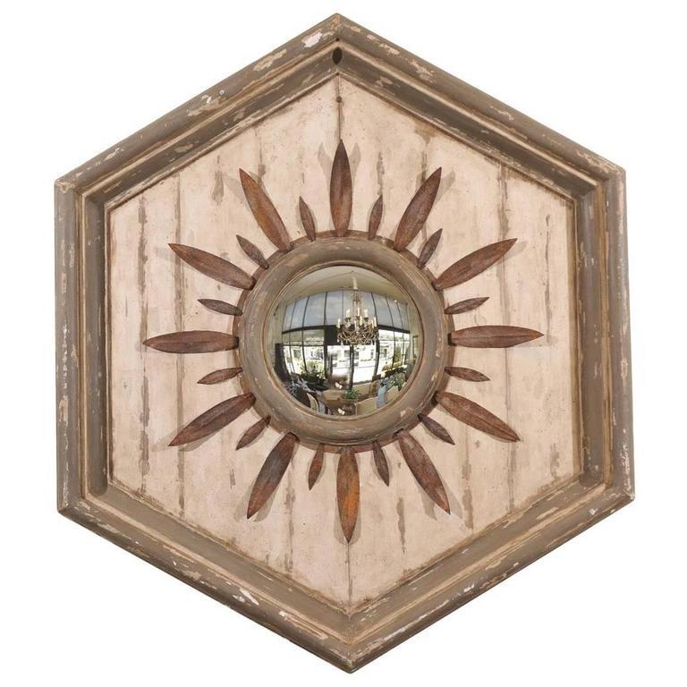 Large decorative sunburst mirror at 1stdibs for Large decorative mirrors