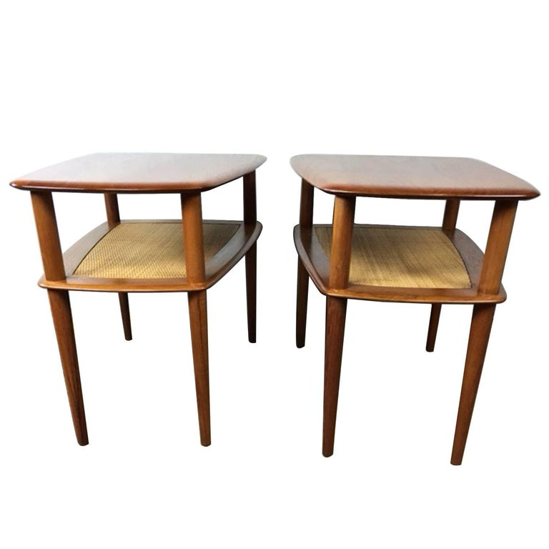 Peter Hvidt Solid Teak End Tables 'Pair' for France & Sons