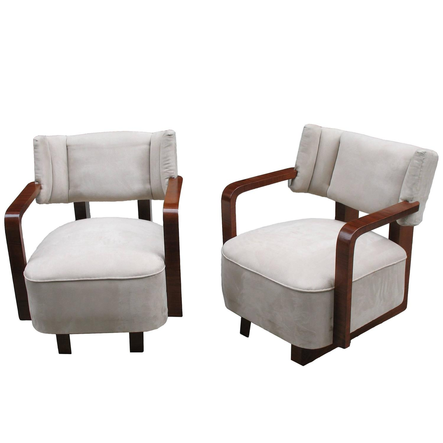 Pair of highly comfortable mid century modern armchairs or for Comfy chairs for sale