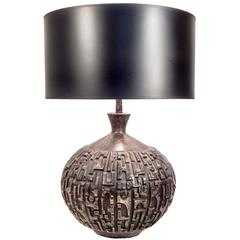 Mid-Century Brutalist Table Lamp