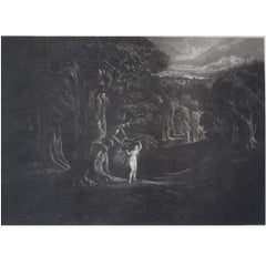 John Martin, Satan Tempting Eve, Mezzotint, 1827