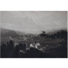 John Martin, Heaven-Rivers of Bliss, Mezzotint, 1827