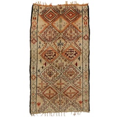 Vintage Beni M'Guild Moroccan Rug with Hygge Vibes, Berber Moroccan Rug