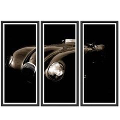 Vintage Jaguar Triptych