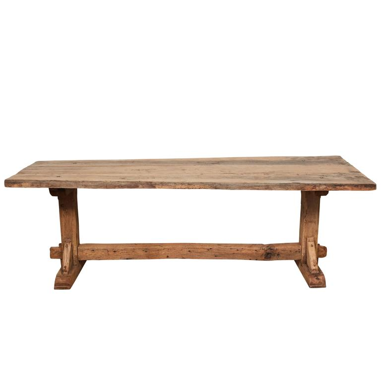 19th Century French Farm Trestle Table