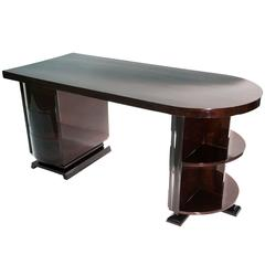 Art Deco Modern Curved Writing Desk