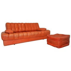 Vintage de Sede DS 85 Daybed and Sofa and loveseat, Switzerland 1970`s