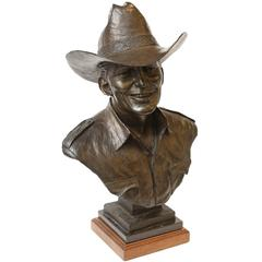 Edd Hayes Bronze Bust of a Man