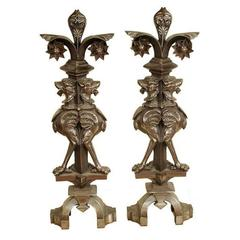 Pair of Architectural Elements/Andirons