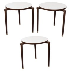 Set of Three 1960s Round Stacking Tables