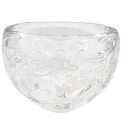 Kosta Decorative Glass Bowl with Controlled Bubbles