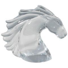 Daum Crystal Horse Head