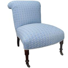 19th Century Napoléon III Upholstered Slipper Chair