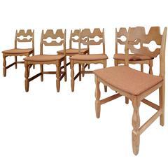 Six Oakwood Danish Chairs by P&P