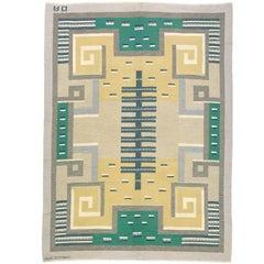 20th Century Swedish Flat-Weave Carpet by Agda Osterberg