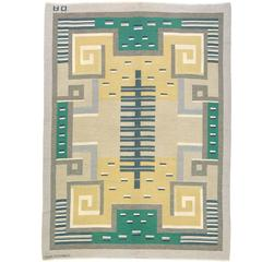 20th Century Swedish Flat-Weave Carpet by Agda Osterberg