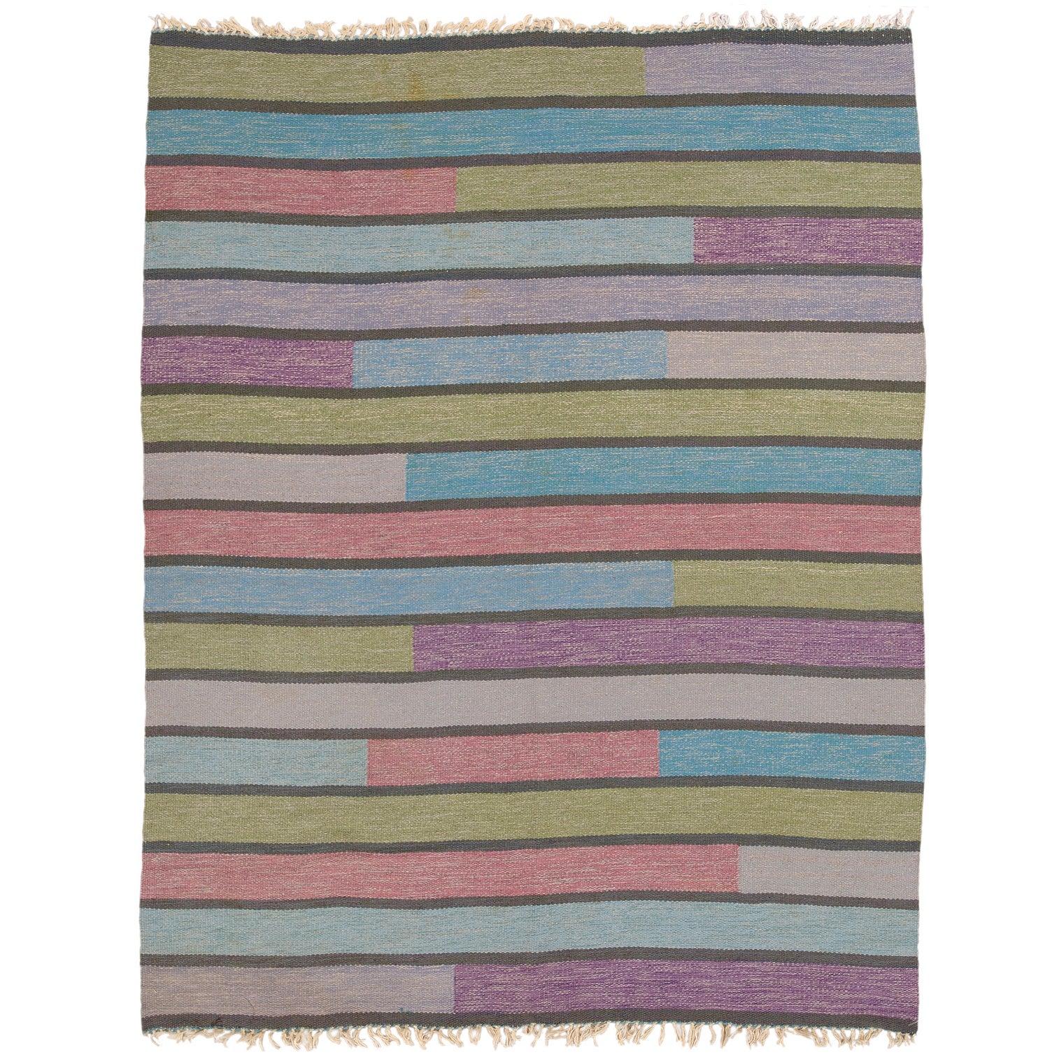 20th Century Swedish Flat-Weave Carpet by Ingrid Hellman-Knafve