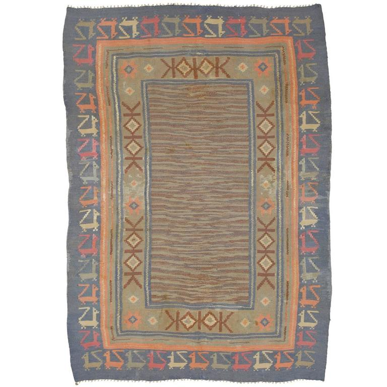 20th Century Swedish Flat-Weave Carpet by Marta Maas-Fjetterström
