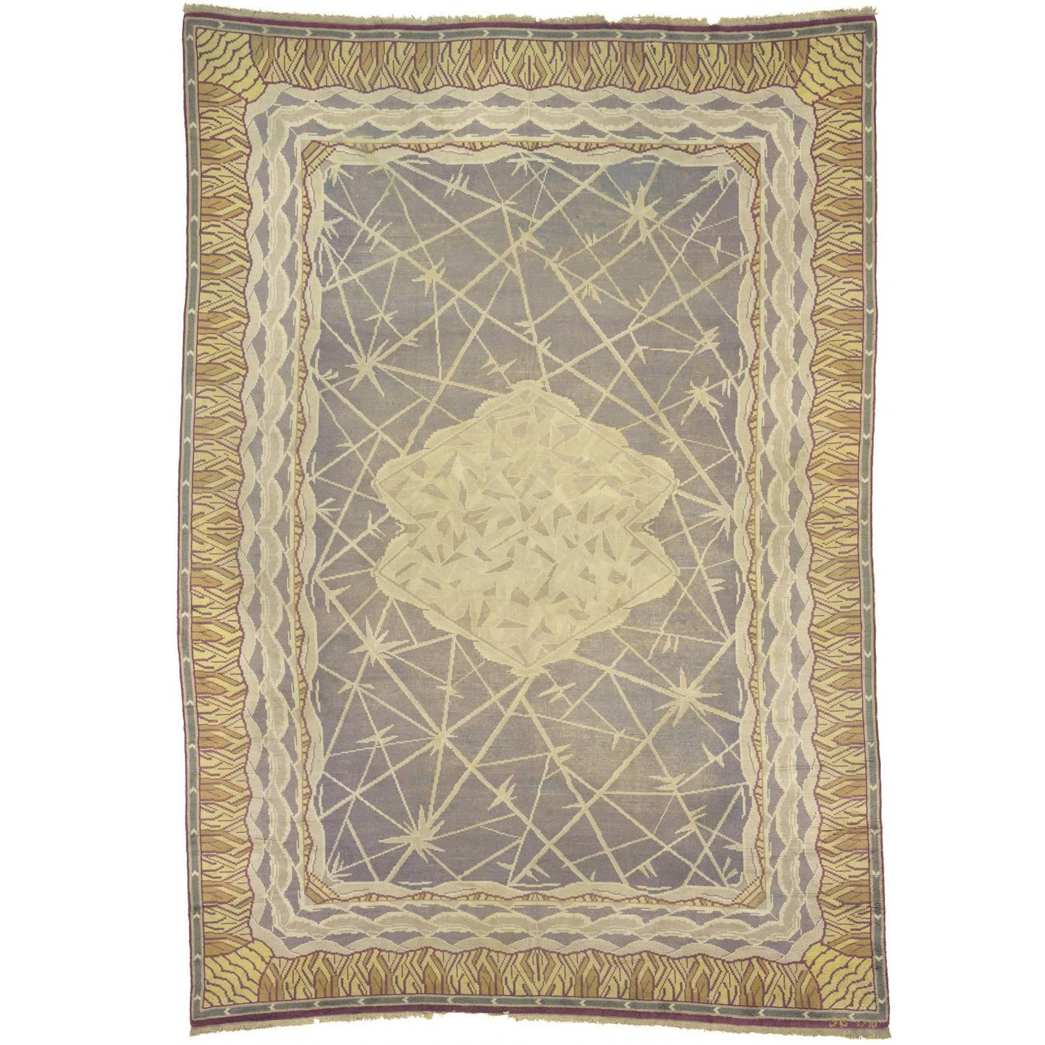 Early-20th Century Swedish Pile-Weave Carpet by Selma Giobel