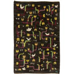 """""""Song of the Birds"""" 20th Century Swedish Pile-Weave Carpet by Sigvard Bernadotte"""