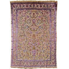 Antique Silk Souf Kashan