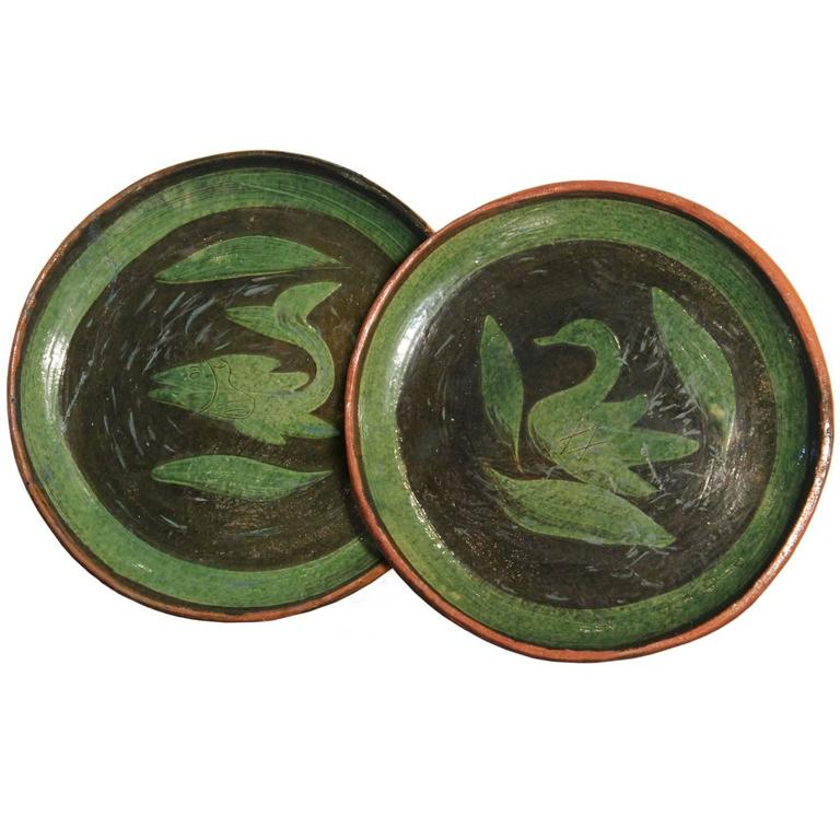 Patamban Pottery Plates From Michoac 225 N Mexico At 1stdibs