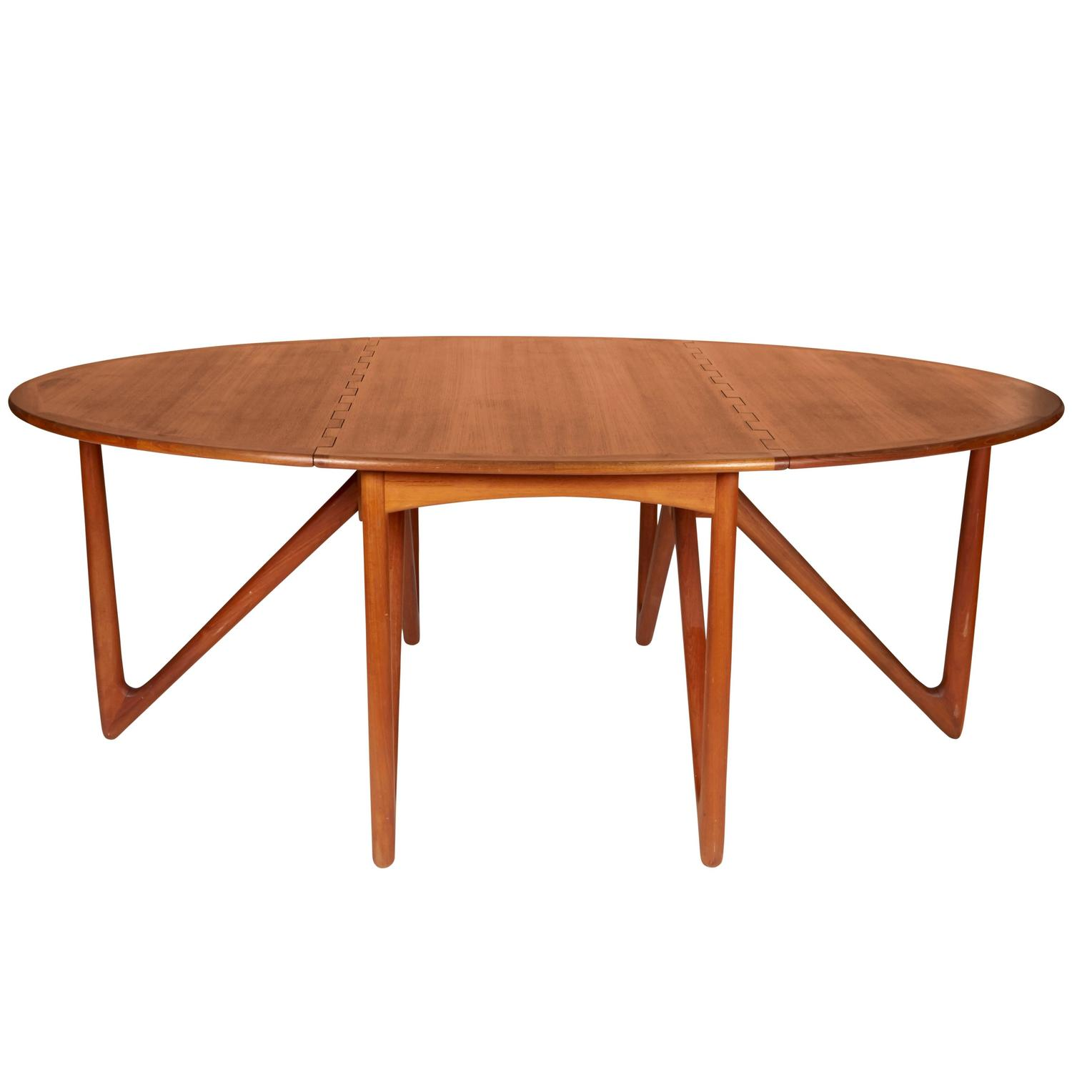 Niels Kofoed Drop-Leaf Teak Dining Table For Sale at 1stdibs