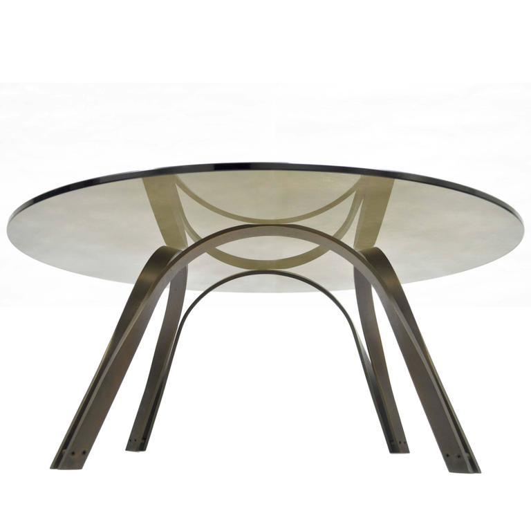 Trimark Bronze Finish Sculptural Coffee Table After Roger Sprunger for Dunbar
