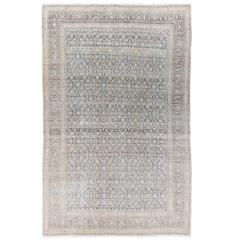 Neutral Antique Yazd Rug