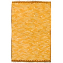"""Fiskar"" 20th Century Swedish Flat-Weave Carpet by Elsa Fullberg"