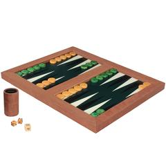 Backgammon Game Board Covered in Snake Skin by Karl Springer