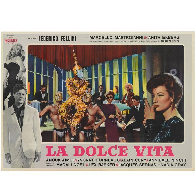 """La Dolce Vita,"" Original Italian Film Poster"