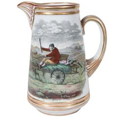 "Antique Copeland Jug Named ""Going to the Derby"""