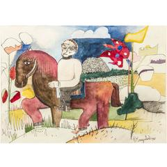 Watercolor by Dutch Artist Herman Kruyder