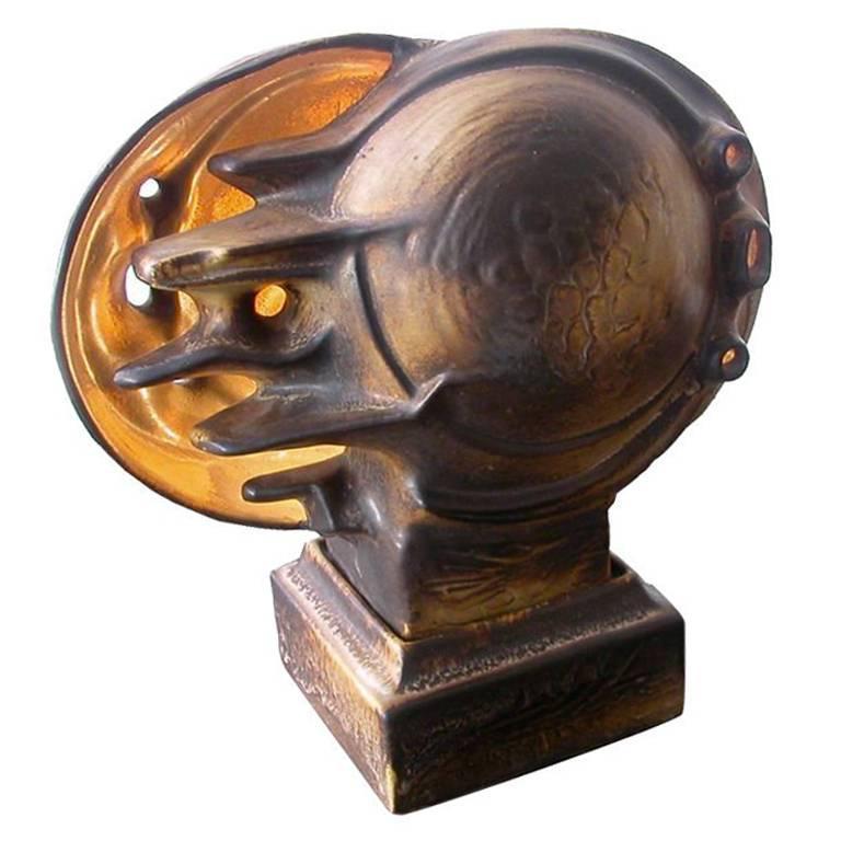 Unique Italian Futurist Ceramic Sculptural Table Lamp, circa 1925