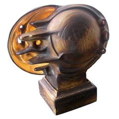 Unique Italian Futurist Ceramic Sculptural Table Lamp, circa 1925