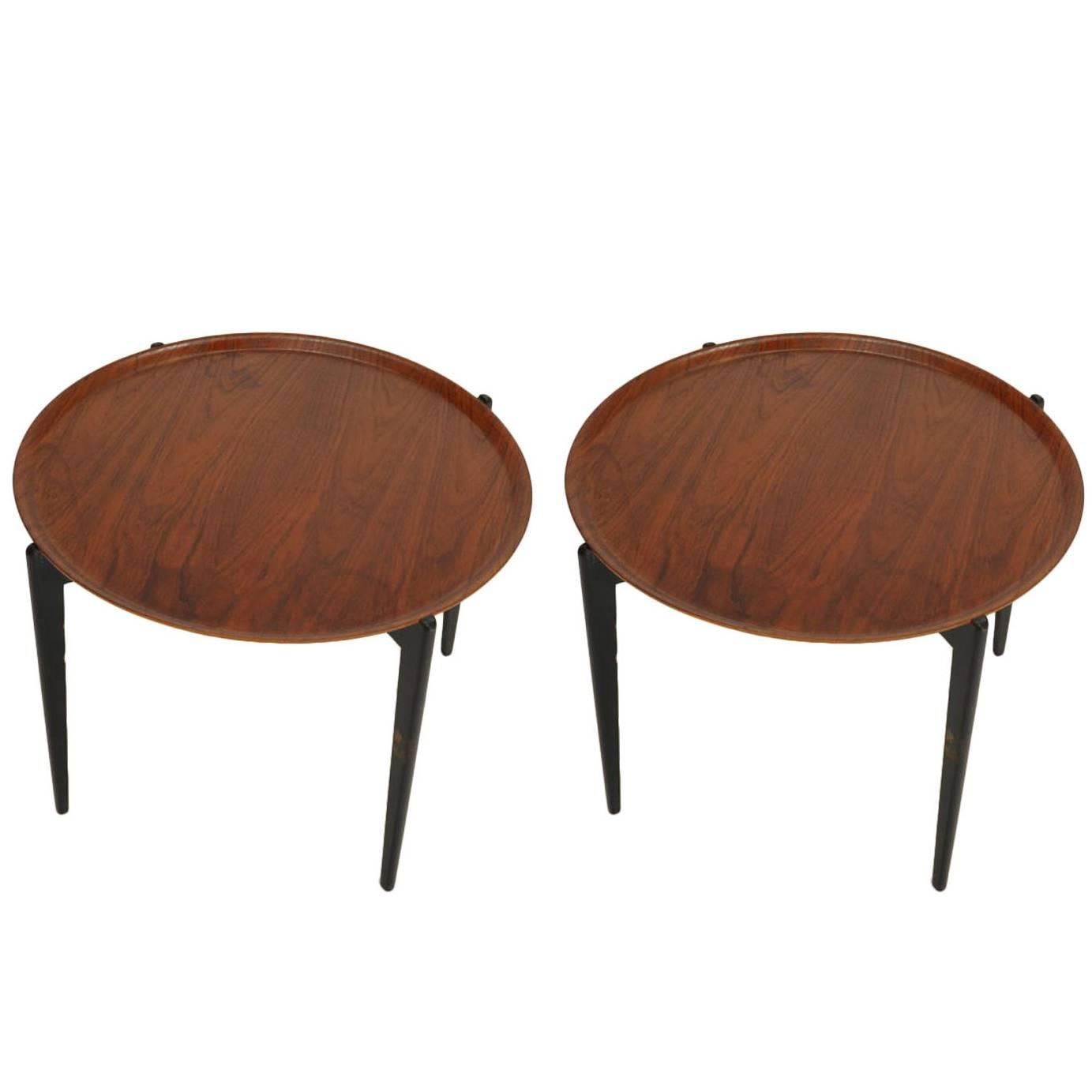 Pair of Fitzgerald Hansen Tray Table at 1stdibs
