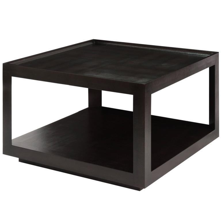 Karl Springer Triangular Leg Coffee Table 1989 For Sale
