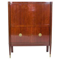 1950s Mahogany Bar Cabinet by Josef De Coene
