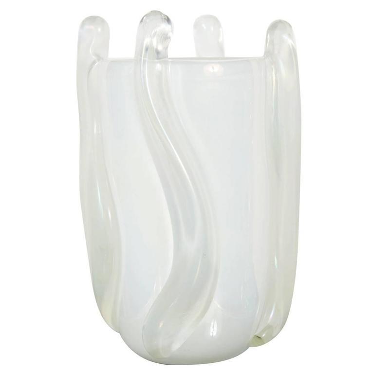 Iridescent Murano Glass Vase by Pino Signoretto